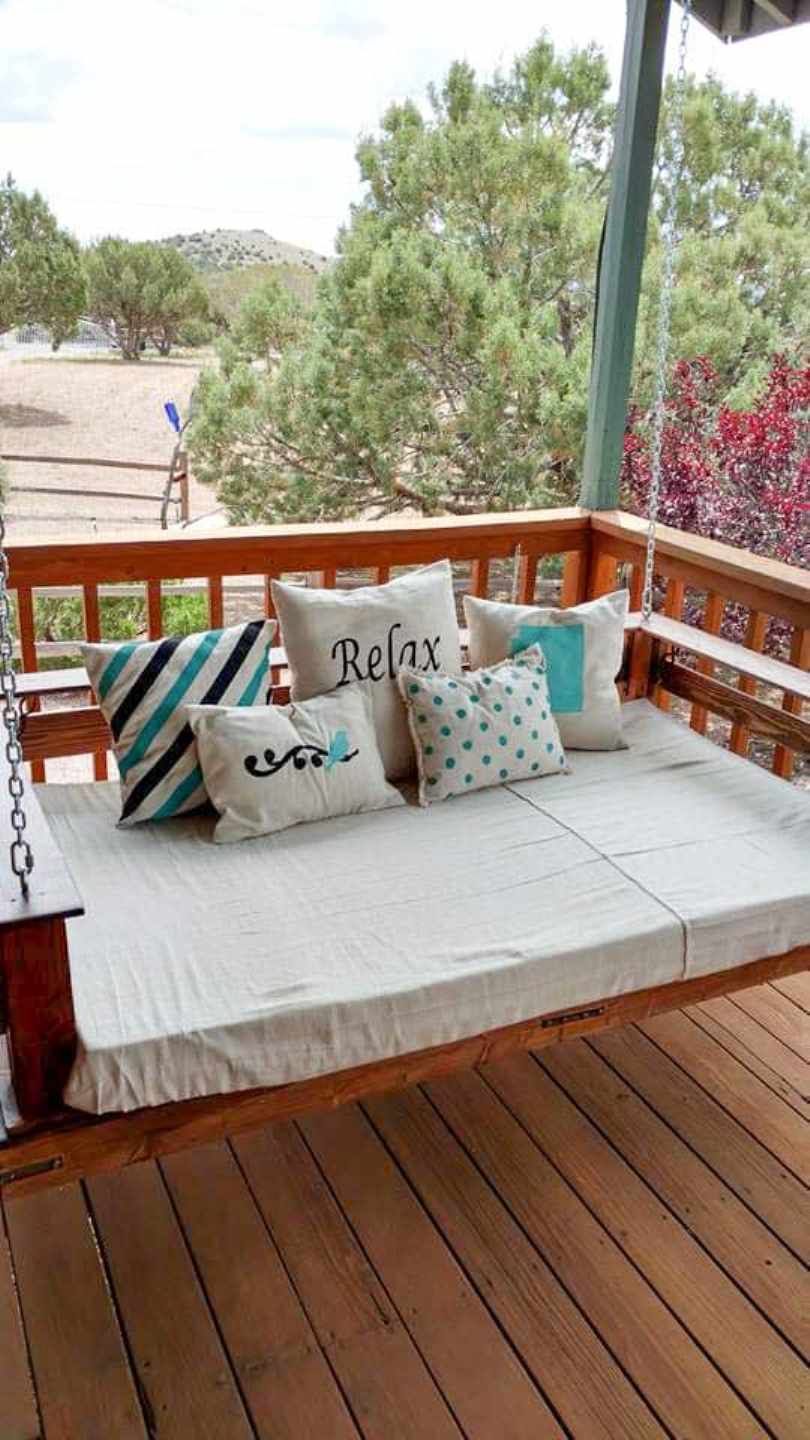 Pallet Swing Bed For Porch