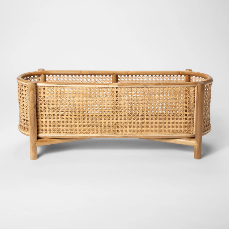 Rattan and Cane Plant Stand