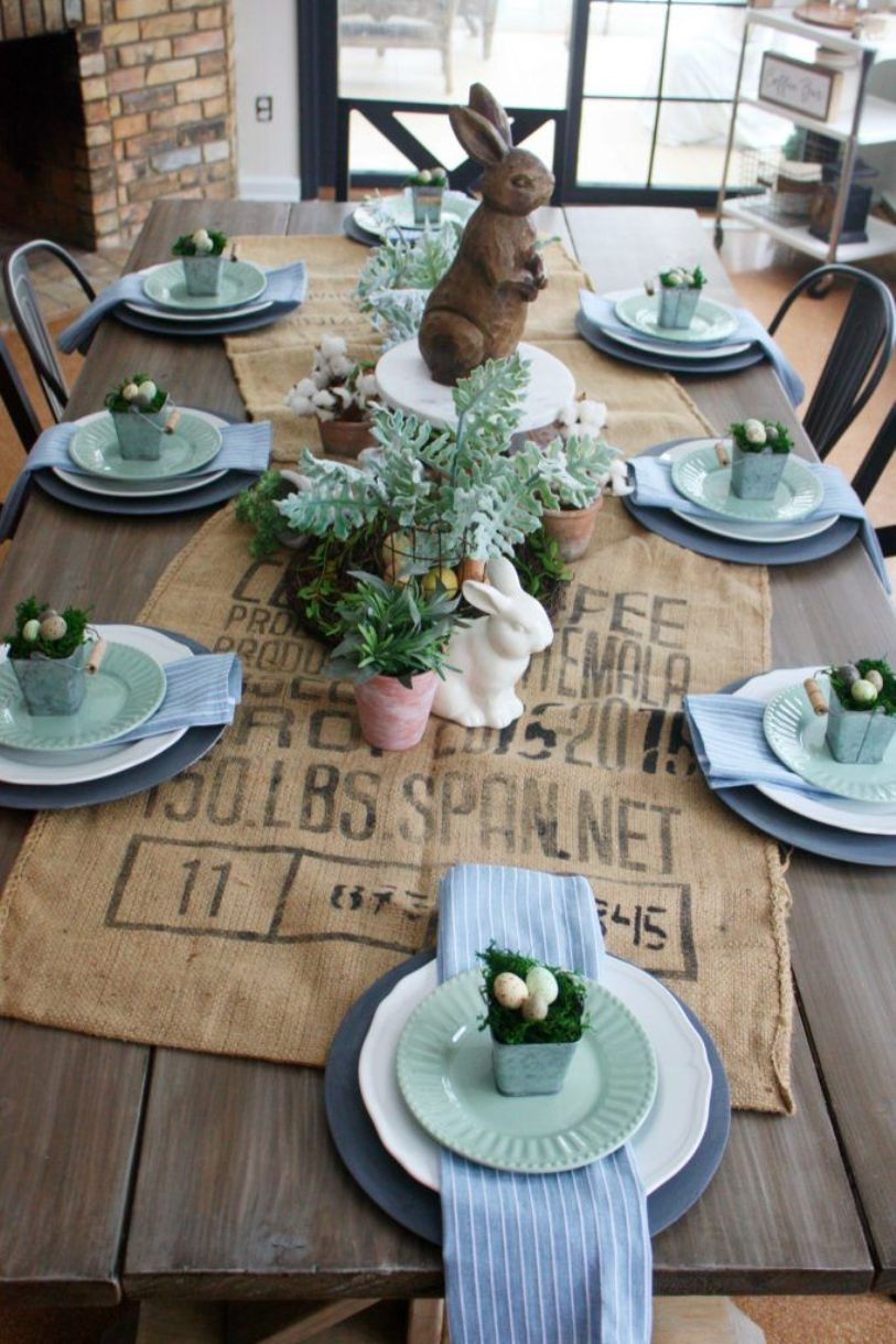 Rustic Table Decor For Easter