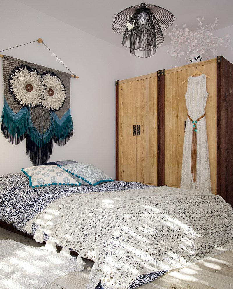 Simple Bohemian Bedroom