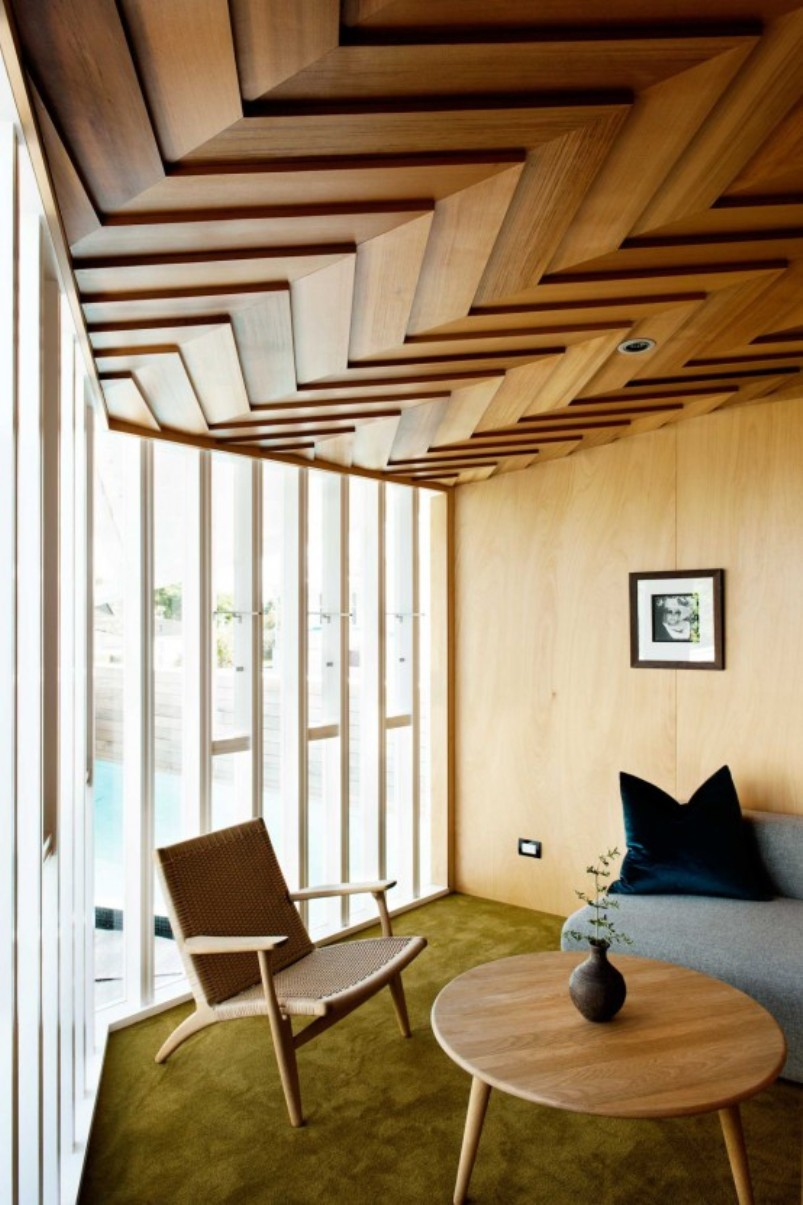 Sophisticated Herringbone Ceiling