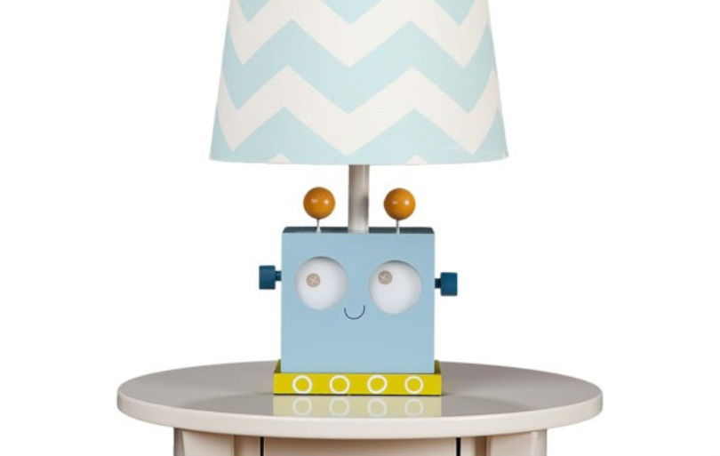 Table Lamp With Robot Base