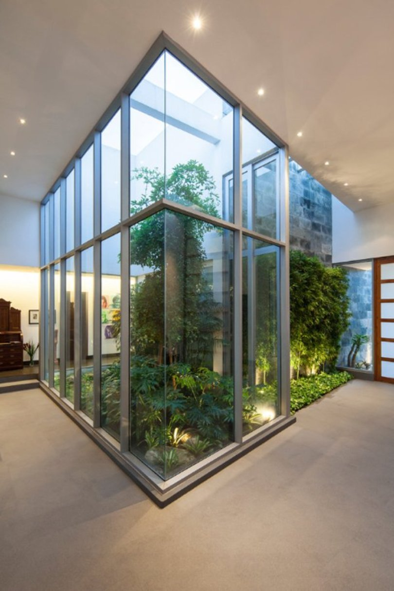 Tall Glass Indoor Garden