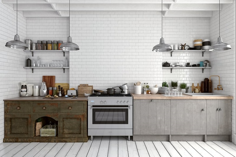 Use Reflective Subway Tiles