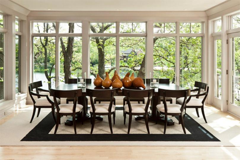 Wooden Gourds As A Centerpiece