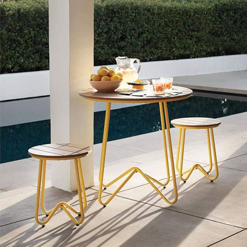 Yellow Outdoor Bistro Set
