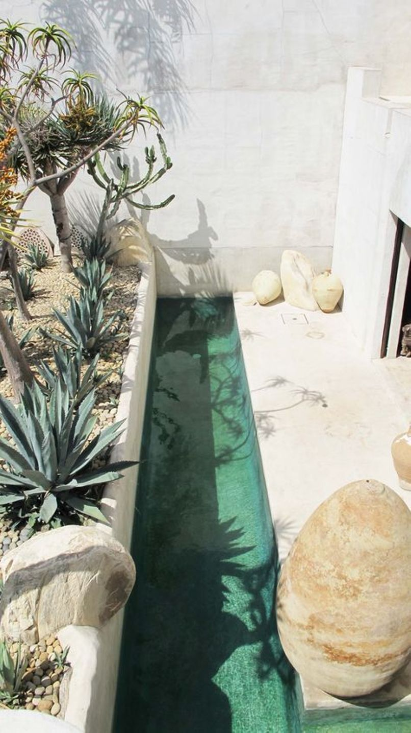 A Narrow Pool To Avoid Heat