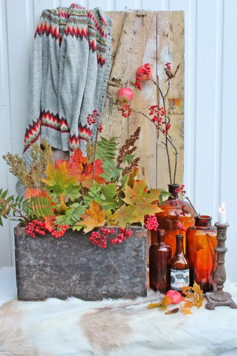 A Stylish Fall Display