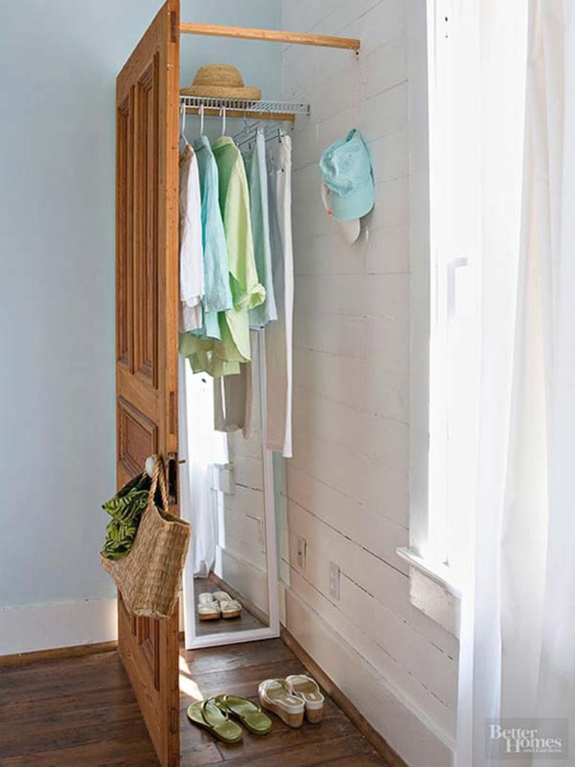 Brace A Door With Wood Strips