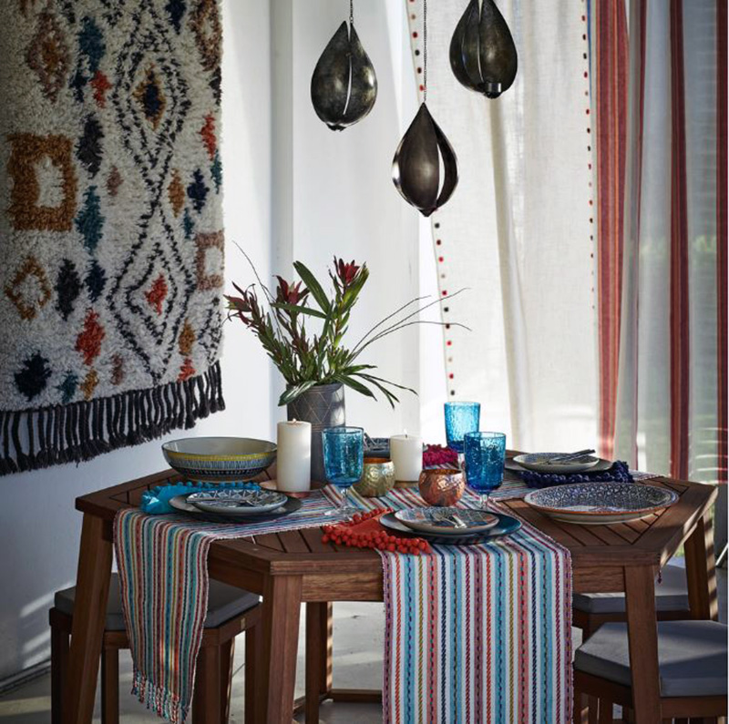Globally Inspired Dining Room