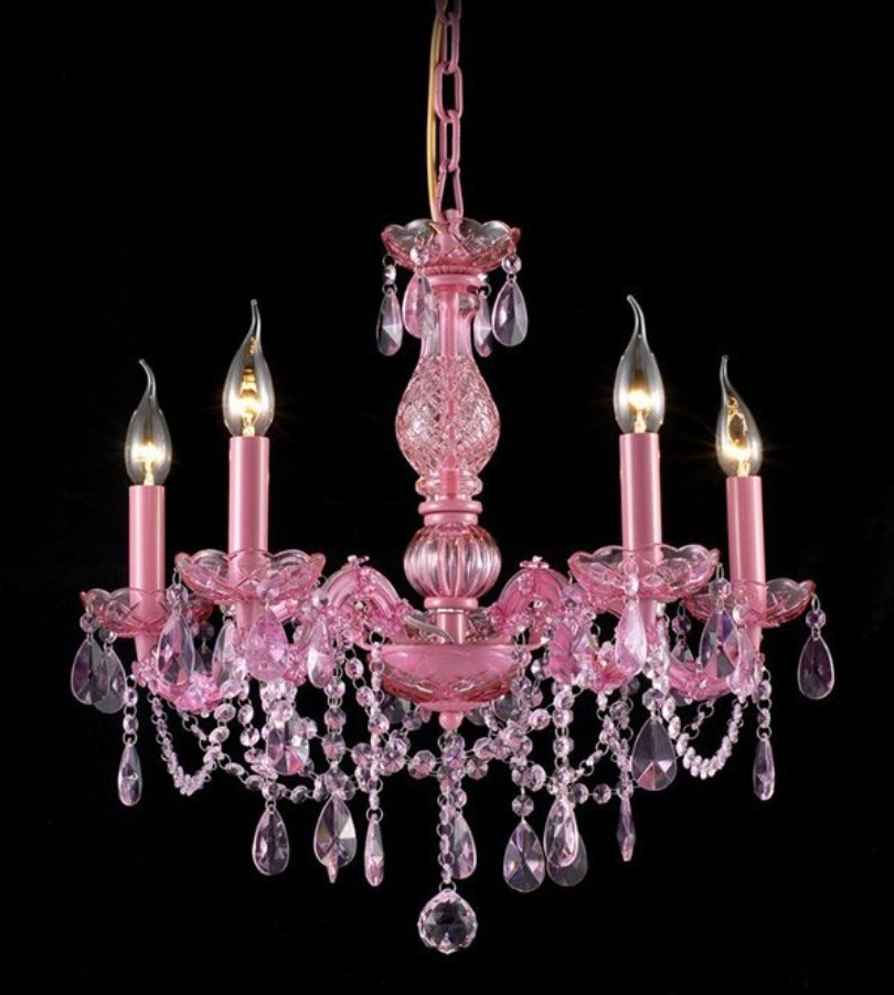 Gypsy Inspired Pink Chandelier