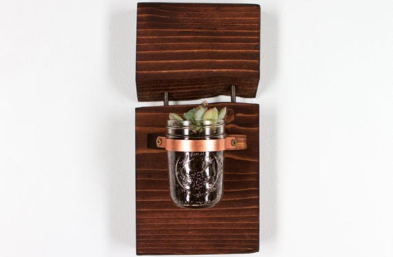 Mason Jar Wall Hang Planter