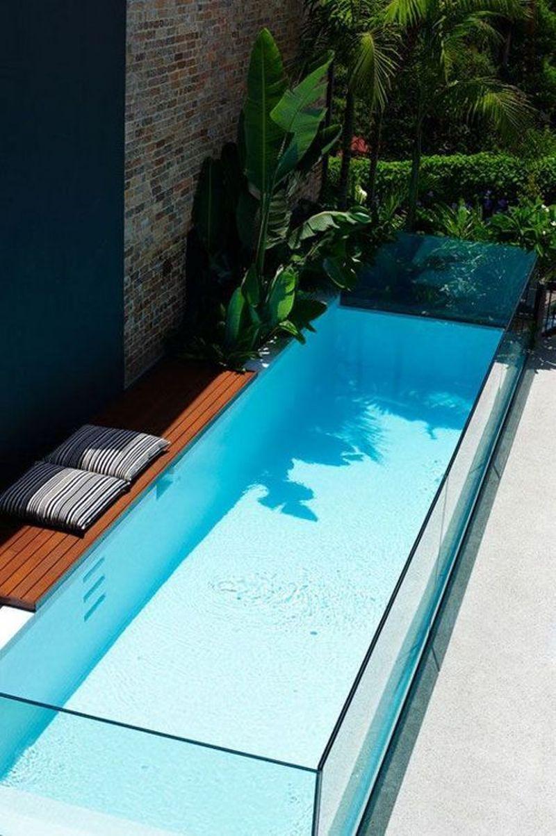 Small Narrow Glass Pool