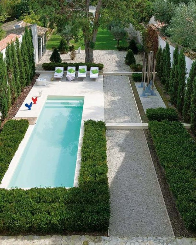 With Perfect Greenery And A Small Narrow Pool