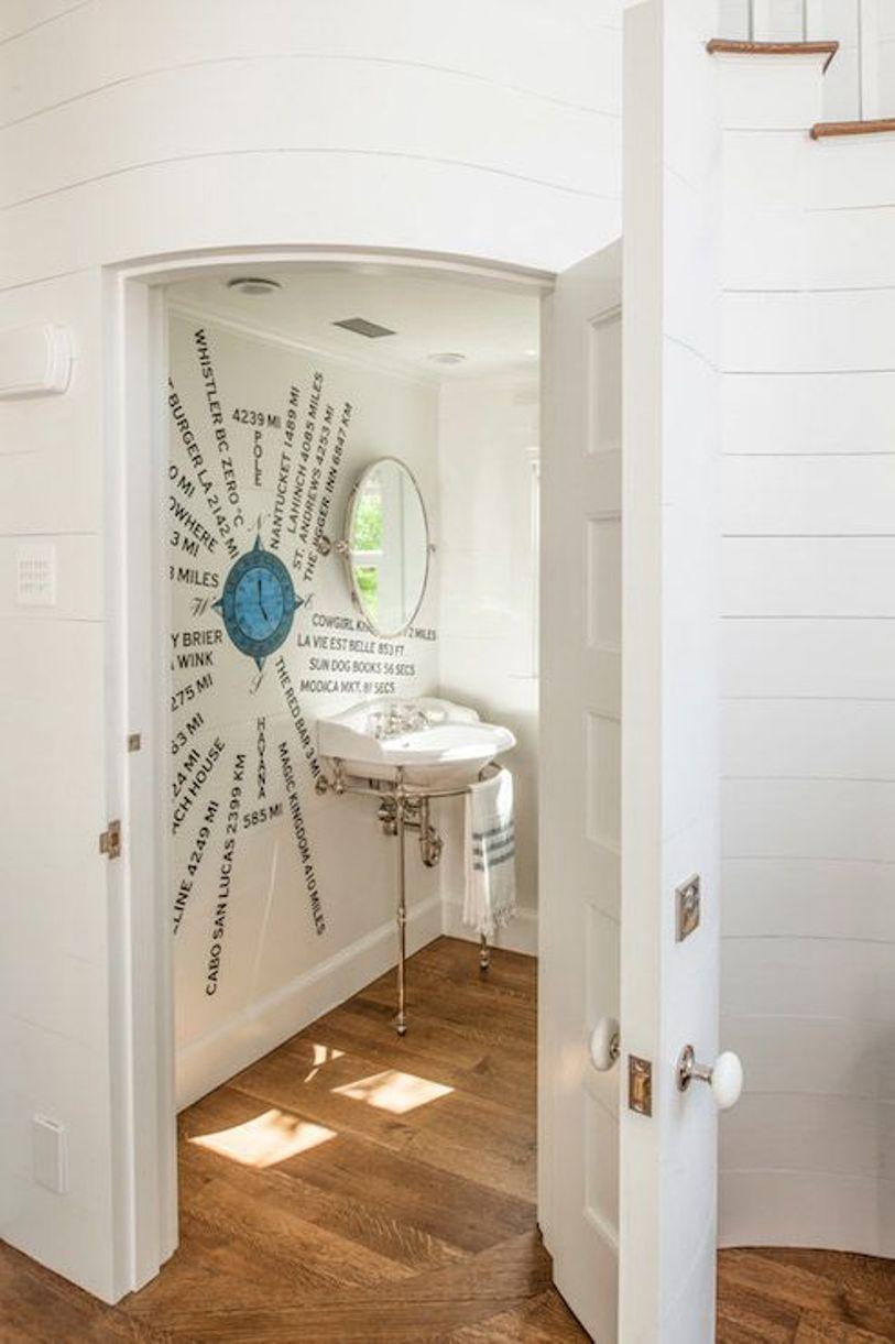 Creative Sea Inspired Powder Room