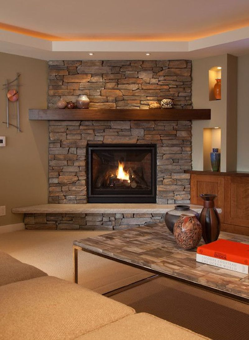 5 Stone Fireplace Designs for a Rustic-Style Living Room ...