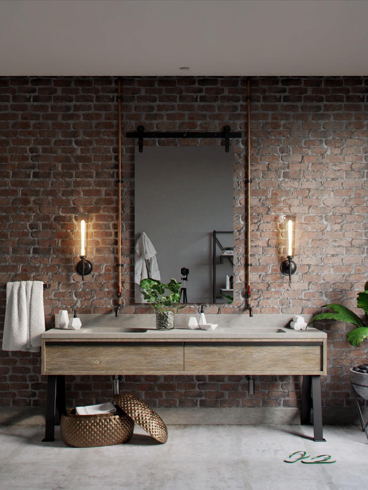 Gorgeous Industrial Bathroom Design Ideas - Talkdecor