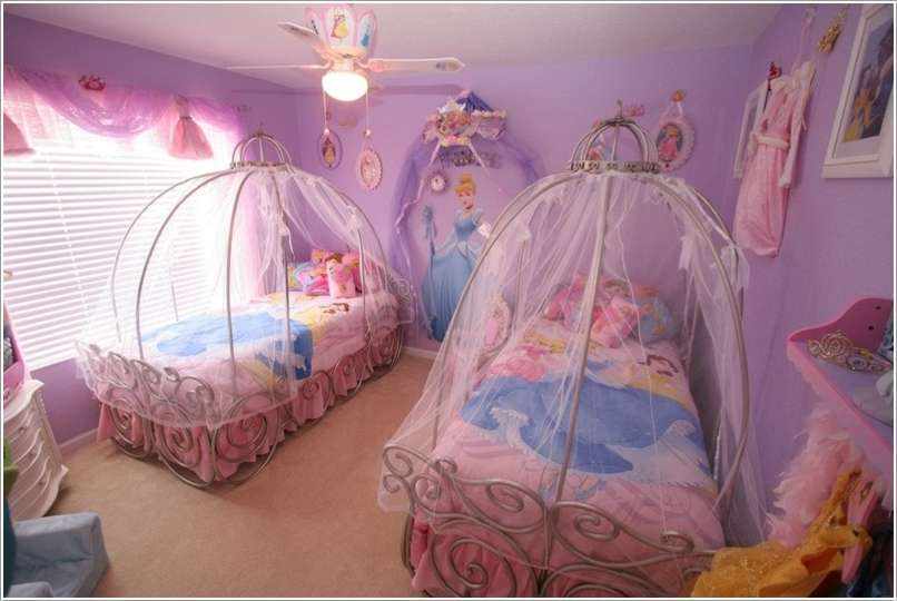 10 Attractive Girls Bedroom Ideas With Princess Themed Decorations Talkdecor
